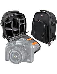 DURAGADGET Mochila Resistente Al Agua + Funda Impermeable Para Cámara Canon EOS 5D Mark IV / M5 | Fujifilm X-A3 | Hasselblad X1D- Black edition