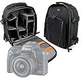Duragadget Sac à Dos Noir pour Canon EOS M5 / EOS 5D Mark IV, Hasselblad X1D, Leica Sofort, Olympus E-M1 II & E-PL8 appareils Photos et Leurs Accessoires
