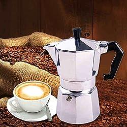 Aluminum Moka Espresso Latte Percolator Stove Coffee Maker Pot Coffee Percolators Capacity:150ml