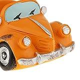 Sharplace Auto Form Vierkanttopf Kaktus Blumentopf für Haus und Büro Dekoration - Orange