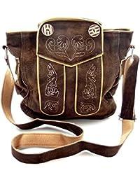 d9f7c3242db09 Trachtentasche Dirndltasche Lederhosen-Tasche Umhängetasche Leder  Dunkelbraun