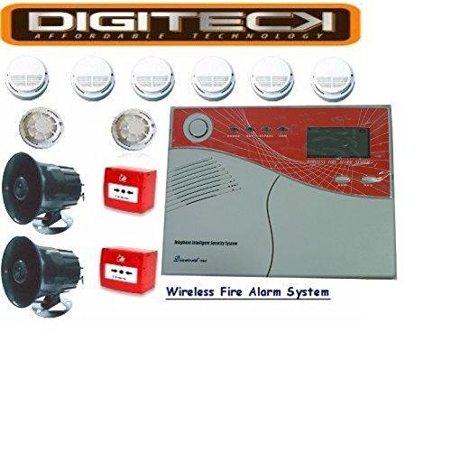 l5a-complete HMO fumo e calore Wireless sistema di allarme antincendio (Sistema Calore)