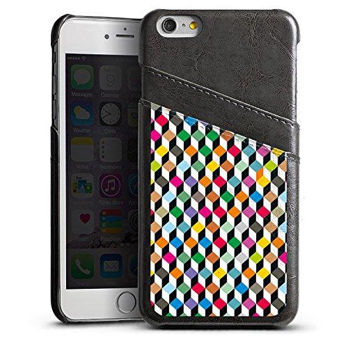 Apple iPhone 6 Housse Étui Silicone Coque Protection Dé couleurs Effet d'optique Étui en cuir gris