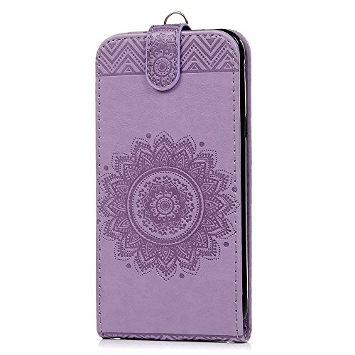 Blue-screen-band (Mavis's Diary Samsung Galaxy J3 Hülle Flip Up-down Hell Lila Tasche Drucken Laub Blumen Tribal Muster und Band Flip Cover Klappetui Kartenfächer Schutzhülle Scratch Schnalle Telefon-Kasten Multifunktion Schnalle PU-Leder Magnetverschluss Fall Euit Handyhülle Bumper Handycover + 1x Kapazitive Feder + 1x Staubstecker)