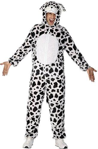 Dalmatiner Kostüm enthält Jumpsuit mit Kapuze, (Kostüm Für Ideen Dalmatiner Erwachsene)