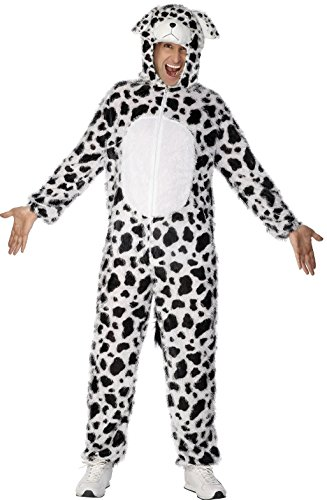 Dalmatiner Kostüm enthält Jumpsuit mit Kapuze, (101 Fancy Dress Kostüme Dalmatiner)