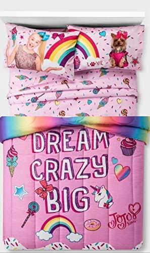 (Jojo Siwa Comforter and Sheets 5pc Bedding Set (Full Size))