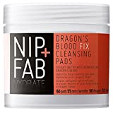 Nip+Fab - Dragons Blood Fix, Salviettine detergenti per il viso, arricchite con acido ialuronico e sangue di drago