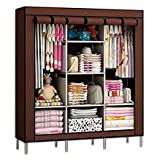 #5: Aventure FOLDABLE WARDROBE CUPBOARD FOLDING WARDROVBE ALMIRAH A3 NON WOVEN FABRIC CLOTH Black Plate