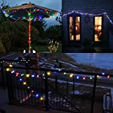 LE 10m 100 LED Festoon Lights, Plug in Multi Colored Globe String Lights, 8 Modes Water Resistant Fairy Lights for Party, Garden, Patio and More Bild 10