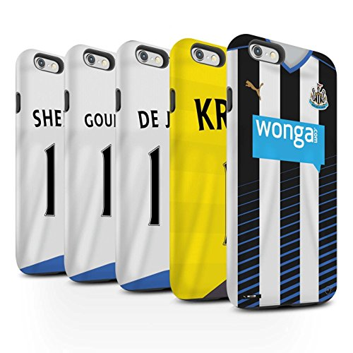 Offiziell Newcastle United FC Hülle / Matte Harten Stoßfest Case für Apple iPhone 6S+/Plus / Coloccini Muster / NUFC Trikot Home 15/16 Kollektion Pack 29pcs