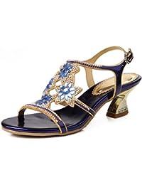 FABULICIOUS - Sandalias de vestir para mujer Taupe Nubuck/Clr 3 UK 7IwW4kN