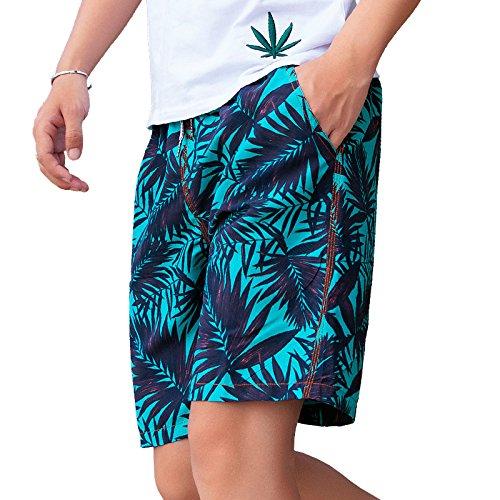 26f91f1664316 Srizgo Srizigo Swimming Shorts Men s Quick Dry Comfort Swim Trunks Printed  Palm Beach Swimwear With Pockets Mesh Lining ...