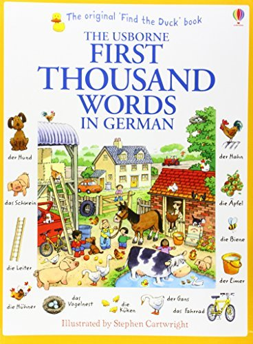 First Thousand Words in German by Heather Amery (2014-09-01)
