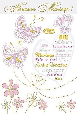 Eurek'art Adulte M245 Carte postale heureux mariage avec Enveloppe