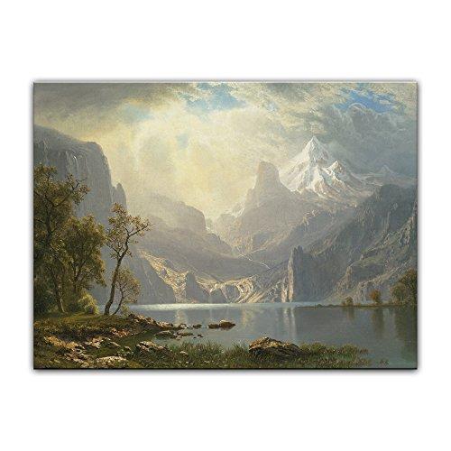 Bild ohne Rahmen - Albert Bierstadt Lake Tahoe 60x40cm ca. A2 - Kunstdruck Poster Alte Meister - Tahoe Schlafzimmer