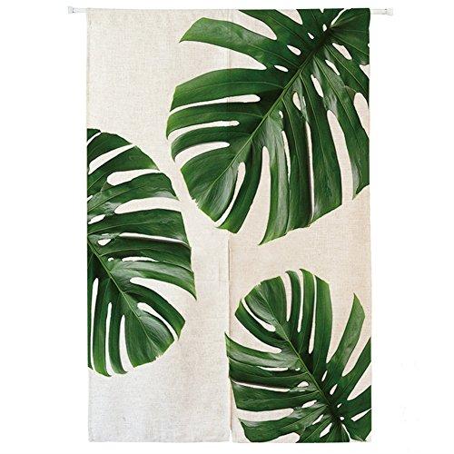 ng Japanische Noren Panels Kinder Schlafzimmer Tür Vorhang mit Zugstange Grün Blätter 2,70 x 120 cm (Hippie-perlen-tür)