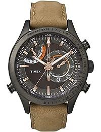 Timex Herren-Armbanduhr Analog Quarz Leder TW2P72500