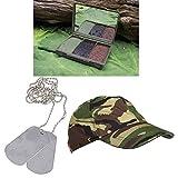 ENFANTS militaire Camping Accessoires BCB Camouflage Peinture de visage DPM Cap + Dog Tags