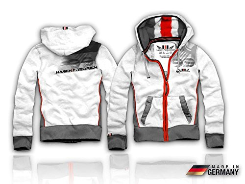 Preisvergleich Produktbild Herren Sweatshirt Jacke Wendejacke ODIN Weiß Nr 2