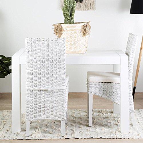 Gael Table À Rallonges 120/170 Blanche - Bois - 120x90x78 cm - Couleur Blanc Winter