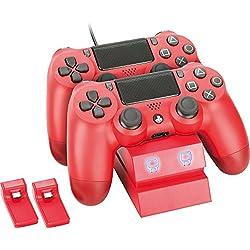 Estacion de carga para mandos Dualshock PS4 - Rojo