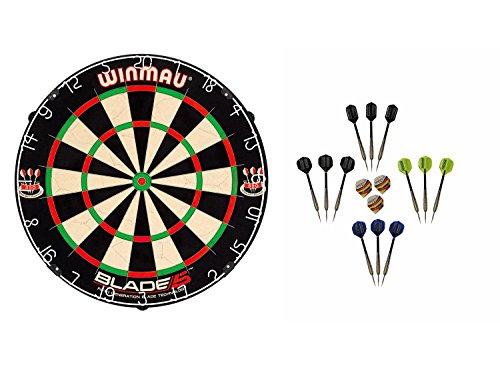 Winmau Blade 5 Dartboard + McDart Steeldarts (12 Steeldarts)