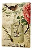 LEotiE SINCE 2004 Cartel Letrero de Chapa XXL Viaje por El Mundo Francia París Nostalgia Flor de riego de Aves