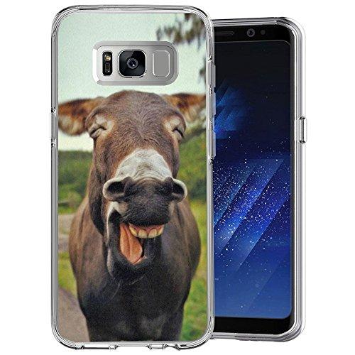 Dazhi - Custodia trasparente per Samsung Galaxy S8, motivo lupo Howl, design personalizzato, ultra sottile e flessibile Samsung Galaxy S8 plus Funny Donkey