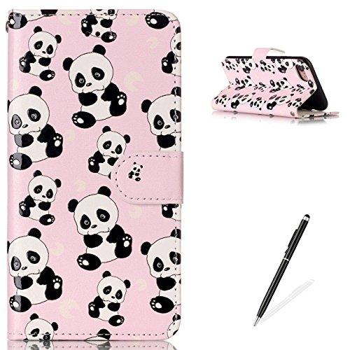 iPhone 7 iPhone 8 4.7 Wallet Cover Premio Lusso PU Custodia in Pelle,MAGQI Robusto Durevole A Prova di Graffio Flip Copertura Protettiva Full Body Case per iPhone 7 / 8 - Orso Panda