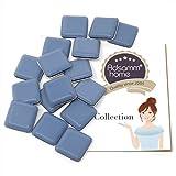 16 x PTFE-Gleiter   24x24 mm   Grau-Blau   quadratisch   Selbstklebende Möbelgleiter in Premium-Qualität von Adsamm®
