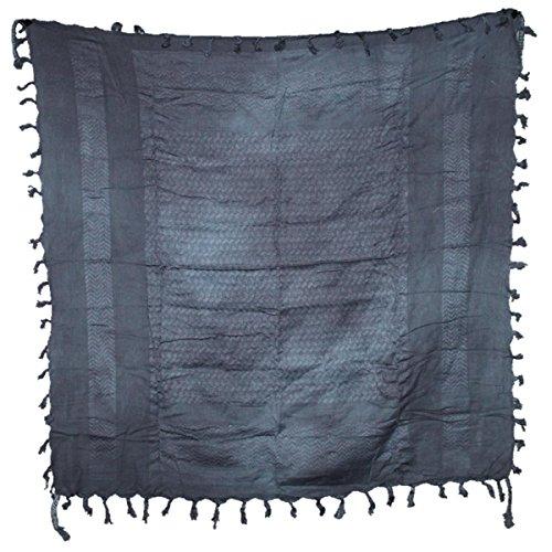 Freak Scene® Foulard palestinien/keffieh en coton - couleur unie - 100 x 100 cm - Large palette de couleurs! gris motif gris