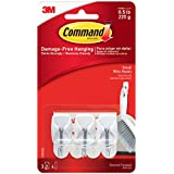 Command - Ganchos y tiras adhesivas para colgar utensilios de cocina (1 unidad con 3 ganchos)