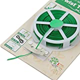 PE Green & PVC Twist Loop Spool Wire with Cutter for Garden Yard Plant 50 m Gardening Tools Supplies Plant Tools Pack of 1 (With Free Token)
