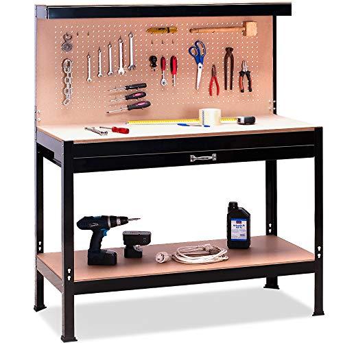 Deuba Mesa trabajo metal Banco trabajo guardar herramientas