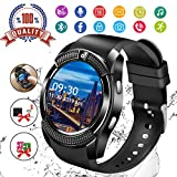 Smartwatch Android,Bluetooth Smart Watch Telefono con SIM Card Slot e Fotocamera,Orologio Fitness Sport Android Wear Pedometer per Donna Uomo Bambini per iPhone Samsung Sony Android iOS Smartphones