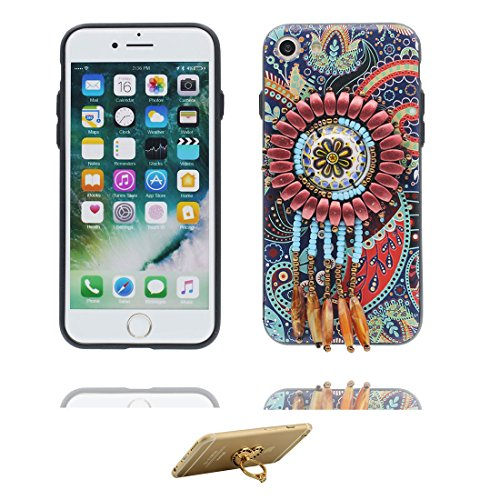 "iPhone 6 6s Hülle Cover, 3D Blume Bead Zubehörteil, TPU Flexible Uniquedesigned Nationaler Stil Slim Bling, iPhone 6 Handyhülle 4.7"", iPhone 6S case 4.7"" Kratzer beständig und Ring Ständer Stylish # 5"