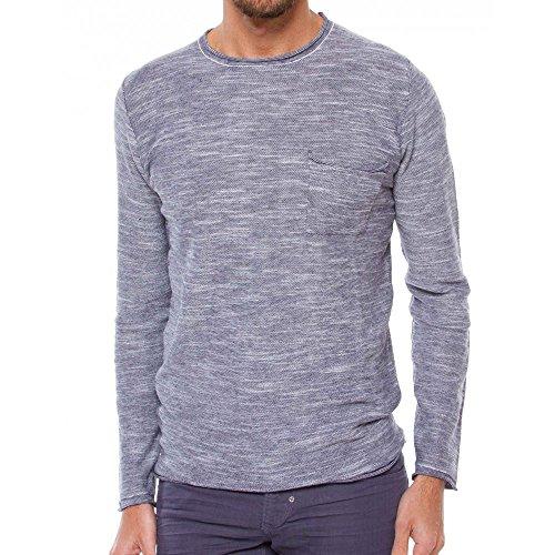 Antony Morato Pullover Uomo Maglione Sweater Slim Fit Blu Marine (Col. 7029) XL
