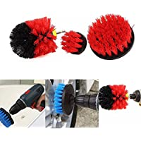 Eleganantamazing - Juego de cepillos limpiadores para taladros eléctricos, 3 Piezas, Color Rojo