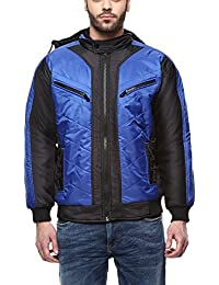TSX Men's Nylon Full Sleeves Jacket with Fur