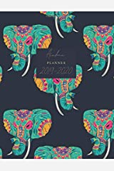 """Academic Planner 2019-2020: Elephants Weekly & Monthly Schedule Diary 