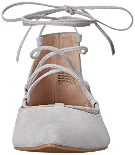 Steve Madden Eleanorr Spitz Wildleder Wohnungen Light Grey Suede