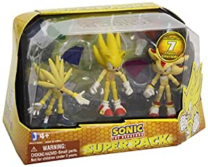 Sonic the Hedgehog – Super Pack – 3 Figurines 7 cm (Import Royaume-Uni)