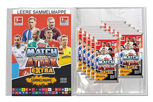 Unbekannt Topps Match Attax EXTRA 2018/19 - 1 Leere Sammelmappe + 10 Booster - Deutsch (Fußball-karte Ordner)