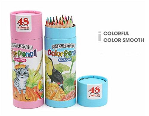 BrillantFarben Wachsmalstifte Buntstifte Set mit 48 Kunst Bleistifte mit verschiedenen Farben zum Zeichnen, Buntstifte, Skizzieren deal für alle Kinder Schulen Kinderzimmer Restaura