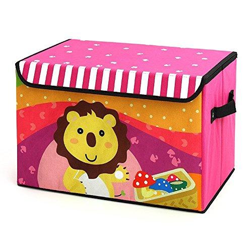 Dazonyang Cajas de Almacenamiento Cartoon Infantil Plegables Hogar Decorativo (León)