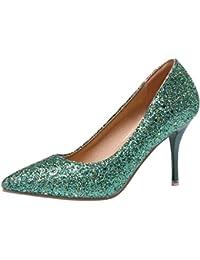 Easemax Damen Sexy High heels Spitze Zehe Low Ankle Stiefel Pumps Mit Absatz Schwarz 38 EU