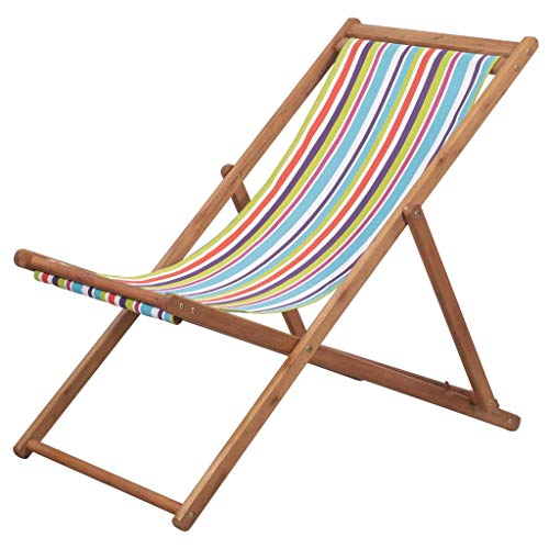 vidaXL Silla Playa Plegable Tela Piscina Terraza Exterior Verano
