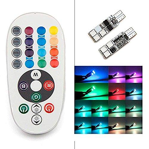 Preisvergleich Produktbild Zantec 2 Stücke T10 5050 6SMD RGB LED Panel für Auto Auto Innenleuchte Kennzeichenbeleuchtung mit Fernbedienung