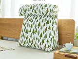 WEBO HOME- Baumwolle und Leinen-Dreieck-Kopf großes Kissen-weiches Bett auf dem Paket Büro-Sofa-Kissen zurück zu hinteren Auflage (Größe: 45 * 20 * 45 (cm) -Kissen ( Farbe : # 2 )